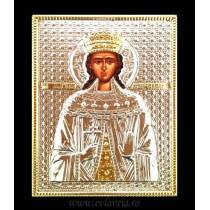 B9 - Icoana Argintata / Aurita Sfanta Mucenita Irina