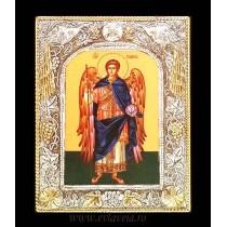 Icoana Argintata / Aurita 19 X 24 cm Sfantul Arhanghel Gavriil