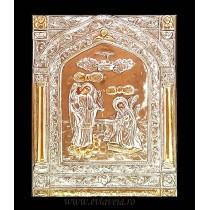 Icoana Argintata / Aurita 19x24 cm Buna Vestire