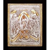Icoana Argintata / Aurita 19x24 cm Invierea Domnului