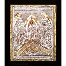 A3 - Icoana Argintata / Aurita 19x24 cm Invierea Domnului