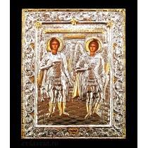 C17 - Icoana Argintata / Aurita Sfintii Arhangheli Mihail si Gavriil