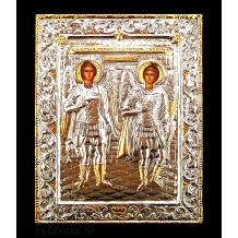 B3 - Icoana Argintata / Aurita Sfintii Arhangheli Mihail si Gavriil