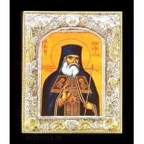 C2 - Icoana Argintata / Aurita 19x24 cm Sfantul Luca al Crimeei