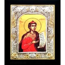 C19 - Icoana Argintata / Aurita 19x24 cm Sfantul Prooroc Daniel