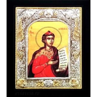 Icoana Argintata / Aurita 19x24 cm Sfantul Prooroc Daniel