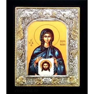 Icoana 19x24 cm Argintata / Aurita Sfanta Veronica
