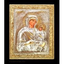 C12 - Icoana Argintata / Aurita 19x24 cm Sfanta Ana