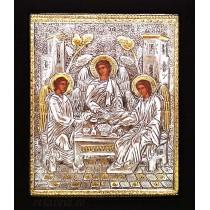 C19 - Icoana Argintata / Aurita 19x24 cm Sfanta Treime