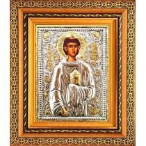 B9 - Icoana Rama / Sticla,  Sfantul Mucenic Stefan