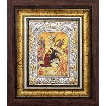 Icoana Rama / Sticla 25 X 30 cm, Nasterea Domnului