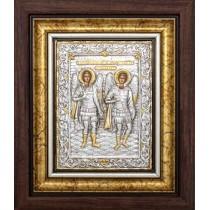 Icoana Rama / Sticla 25 X 30 cm, Sfintii Arhangheli Mihail si Gavriil