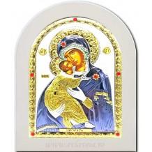 Icoana Argintata 15X21 cm Maica Domnului Vladimir