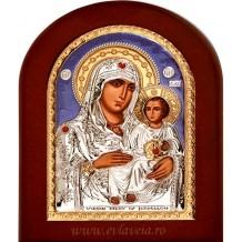 Icoana Argintata 20X26 cm Maica Domnului Ierusalim