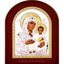 Icoana Argintata 15X21 cm Maica Domnului Ierusalim