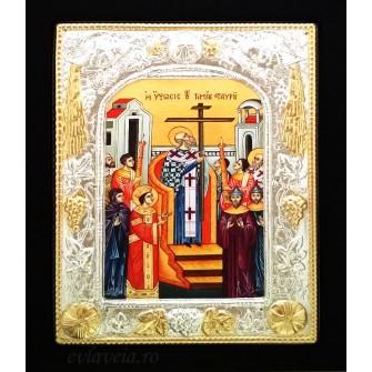 Icoana 19X24 cm Inaltarea Sfintei Cruci