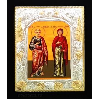 Icoana 19X24 cm Sfintii Parinti Ioachim si Ana