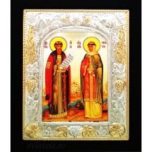 E20 - Icoana 19 X 24 cm Sfintii Petru si Fevronia