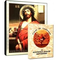 Icoana Iisus Hristos cu Coroana de Spini si Carte de Rugaciuni