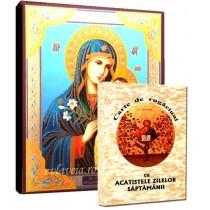 Icoana Maica Domnului Floarea de Crin si Carte de Rugaciuni