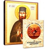 Icoana Sfantul Efrem cel Nou si Carte de Rugaciuni