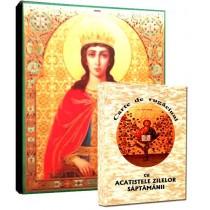 Icoana Sfanta Ecaterina si Carte de Rugaciuni
