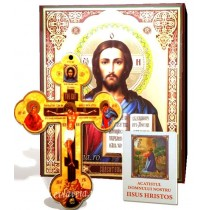 Icoana, Cruce de Perete si Acatist - Iisus Hristos Pantocrator