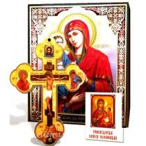 Icoana Maicii Domnului cu 3 maini, Cruce de Perete si Acatist