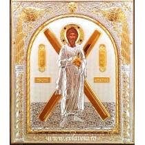 Icoana Argintata 18X15.5 cm Sfantul Apostol Andrei