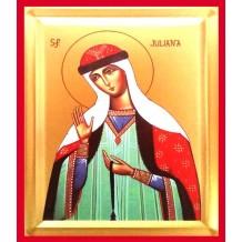 Icoana 19X25 cm Pictata Sfanta Iuliana