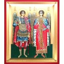 D6 - Icoana 19X25 cm Sfintii Arhangheli Mihail si Gavriil