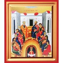 Icoana Pictata 19X25 cm Pogorarea Sfantului Duh