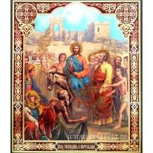 Icoana 20.5x24.5 cm Intrarea Domnului in Ierusalim