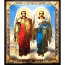 Icoana Sfintii Arhangheli Mihail si Gavriil 10 X 12 cm