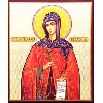 Icoana Sfanta Teodora de la Sihla 10 X 12 cm