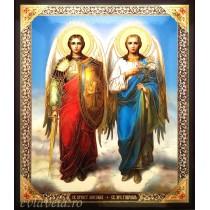 Icoana Sfintii Arhangheli Mihail si Gavriil 15X18 cm