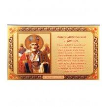 Icoana Binecuvantarea Casei Sfantul Nicolae 15x10 cm