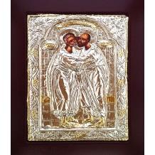 Icoana 19x24 cm Argintata / Aurita Sfintii Apostoli Petru si Pavel