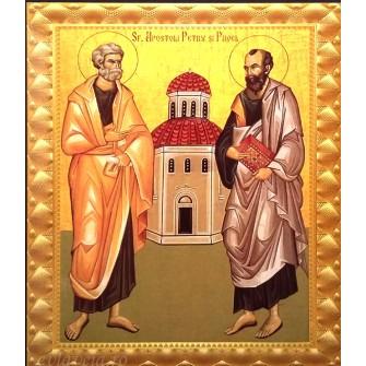 Icoana Sfintii Apostoli Petru si Pavel  15.5X18.5 cm