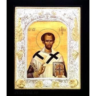 Icoana 19 X 24 cm Sfantul Ierarh Ioan Gura de Aur