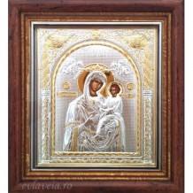 Icoana Argintata 17X16 cm - Maica Domnului Grabnic Ascultatoare