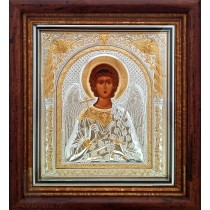 Icoana Sfantul Inger Pazitor Argintata  23X25 cm