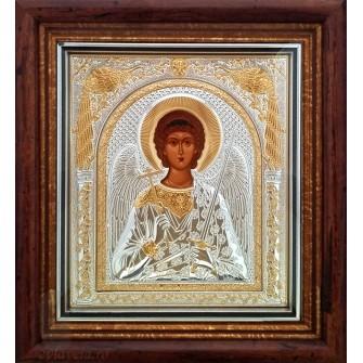 D21 - Icoana Argintata  23X25 cm Sfantul Inger Pazitor