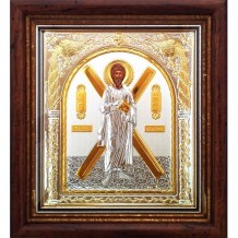 D8 - Icoana Argintata / Aurita 32X28.5 cm Sfantul Apostol Andrei