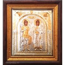 I10 - Icoana Argintata 32X28.5 cm Sfintii Arhangheli Mihail si Gavriil