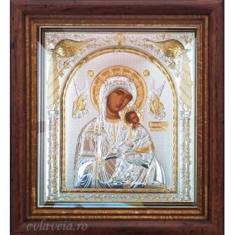 Icoana Argintata 32X28.5 cm Maica Domnului Izbavitoarea