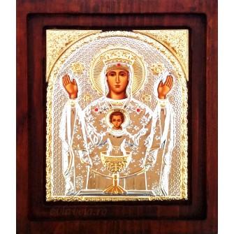 I18 - Icoana Argintata 20X16.5 cm Maica Domnului Potirul Nesecat