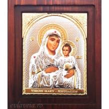 Icoana Argintata 20X16.5 cm Maica Domnului Ierusalim