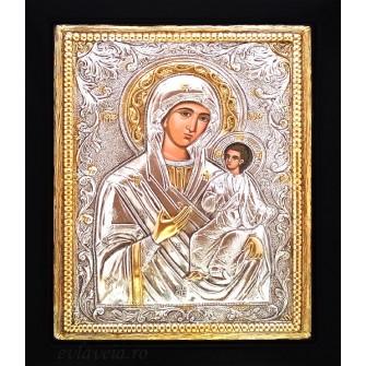 Icoana Argintata / Aurita Maica Domnului Indrumatoarea