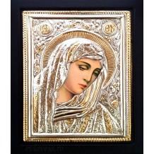 B19 - Icoana Argintata / Aurita 19x24  cm Maica Domnului
